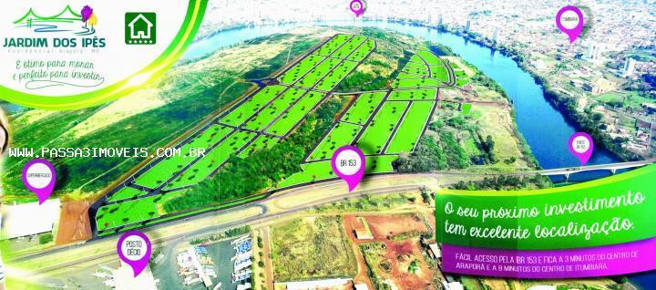 jardim ipe imobiliaria:Terreno para Venda, Araporã / MG, bairro Jardim dos Ipês